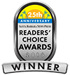 25th reader's choice awards banner